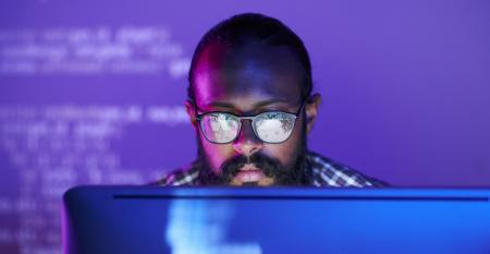 developer at laptop