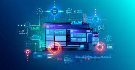 enterprise office productivity suite on laptop and devices