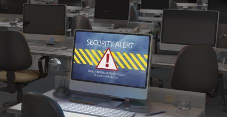 security alert on laptop