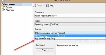 New SQL Server Agent Job Step computer screen shot