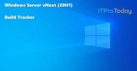 Windows Server vNext Build Tracker Hero Image Blue Background Windows Logo