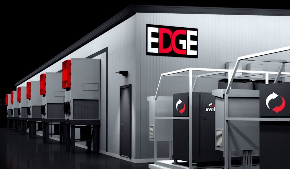 Rendering of a Switch Edge data center (Switch MOD 15)