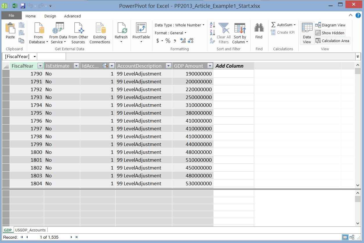Understanding PowerPivot and Power View in Microsoft Excel 2013 ...