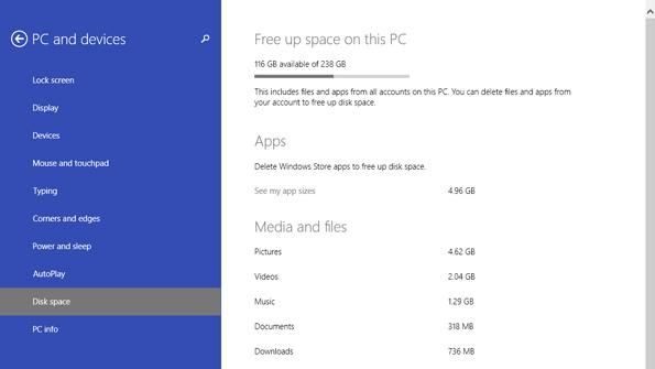 Windows 8.1 Update 1 Tip: Manage Disk Space