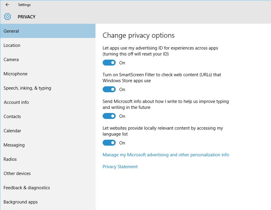 Windows 10 Privacy Settings Walkthrough