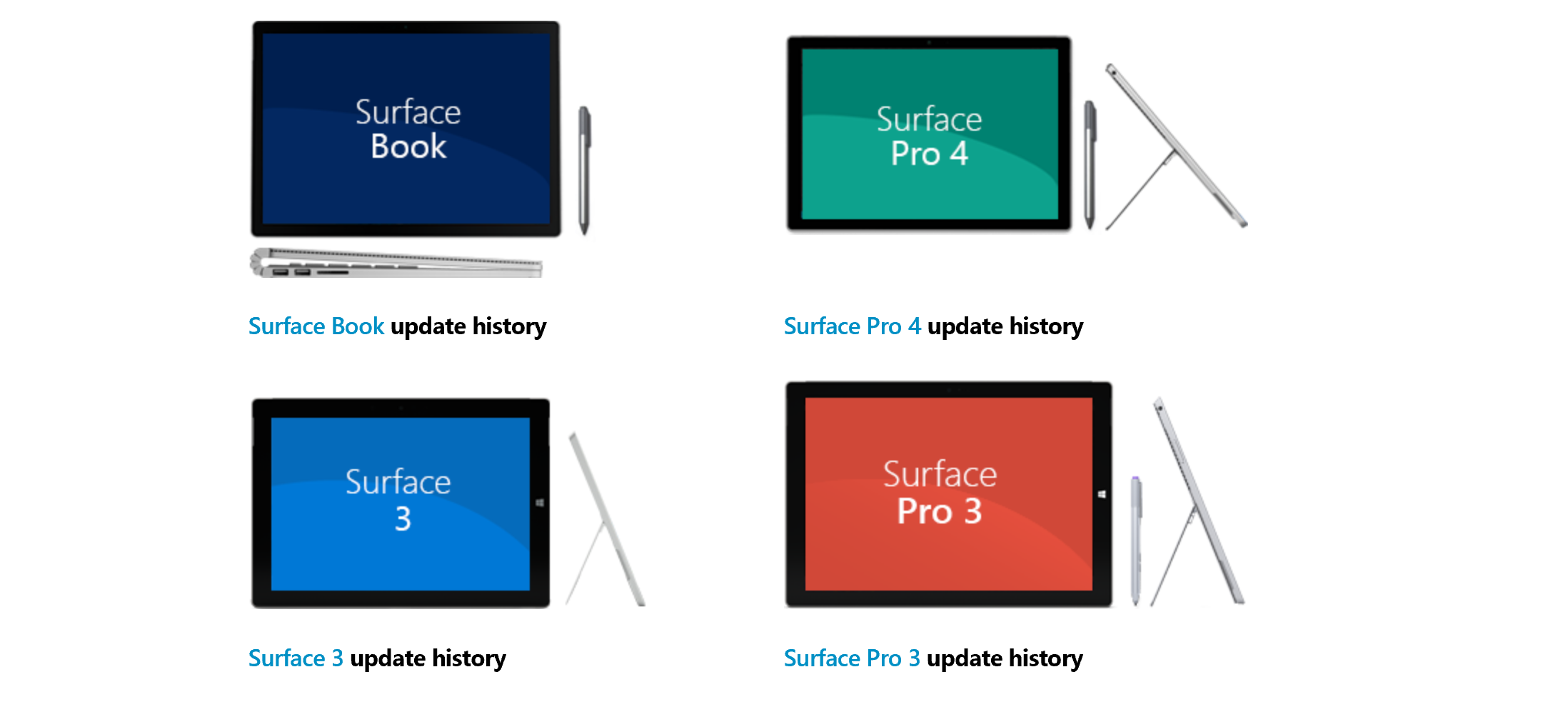 Updates | All of the latest Surface models received updates