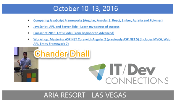 IT/Dev Connections 2016 Speaker and Track Chair Highlight
