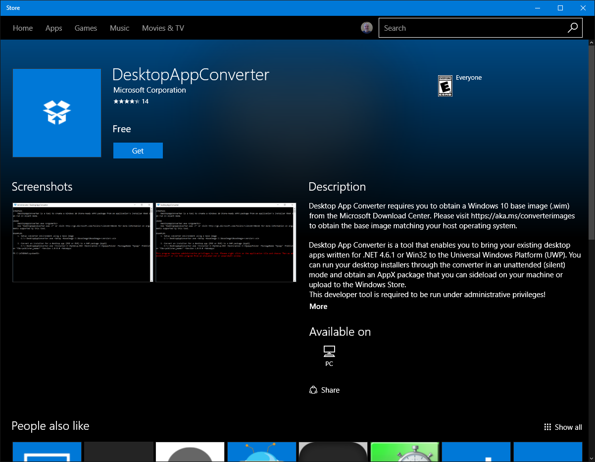 Microsoft Updates Desktop App Converter Base Images and