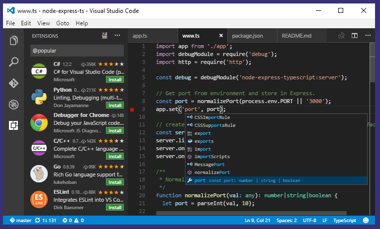 Visual Studio Code Version 1 7 Released with October Updates