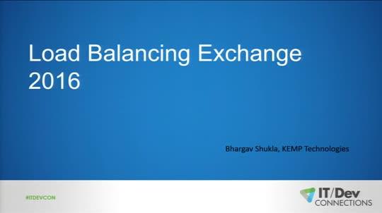 Load-Balancing Exchange 2016 | IT Pro