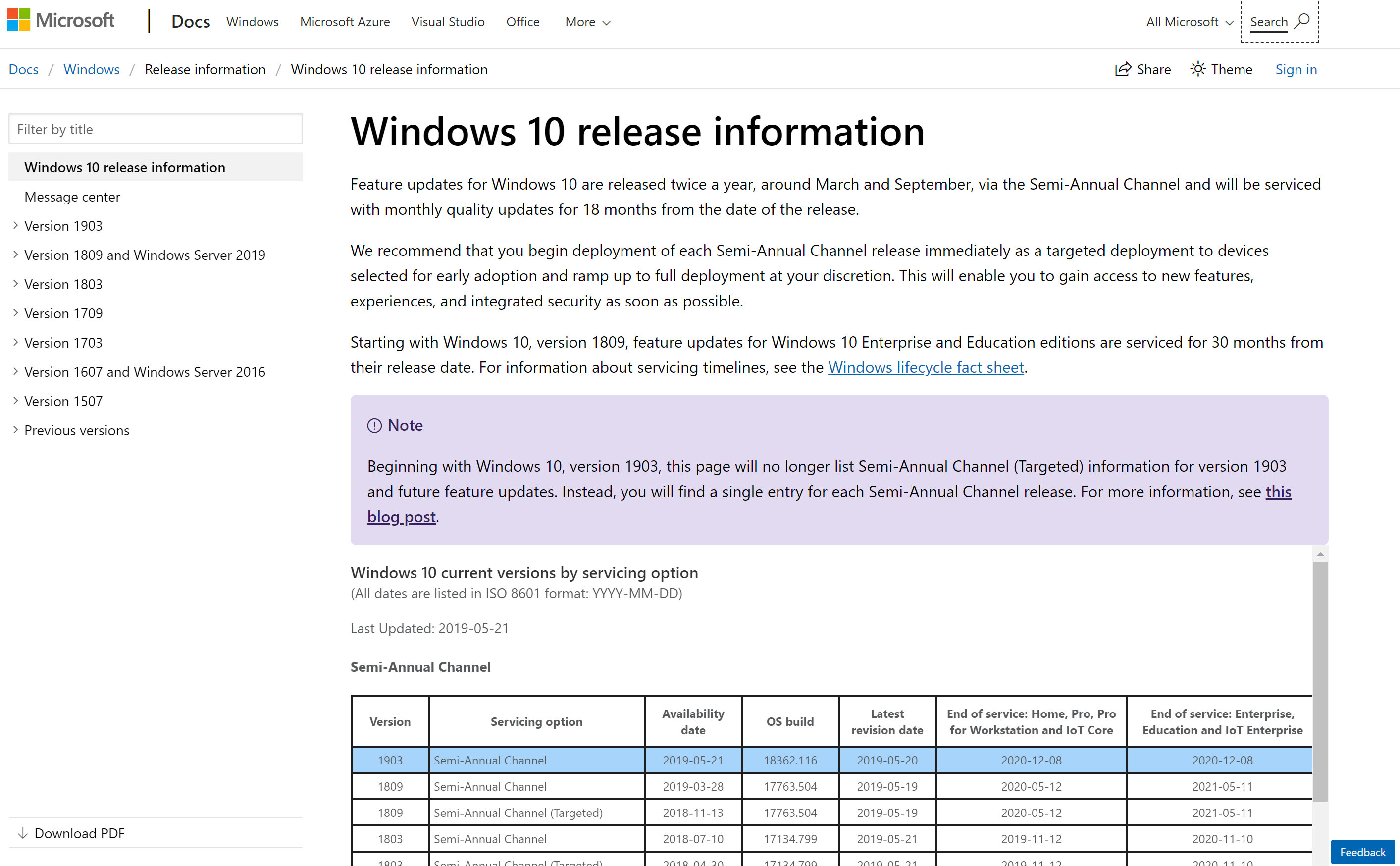 Windows 10 Version 1903 Update Enterprise Rollout Begins | IT Pro