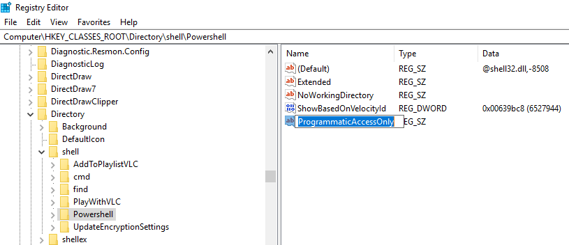 How to Remove 'Open PowerShell' from Windows 10 Context Menu