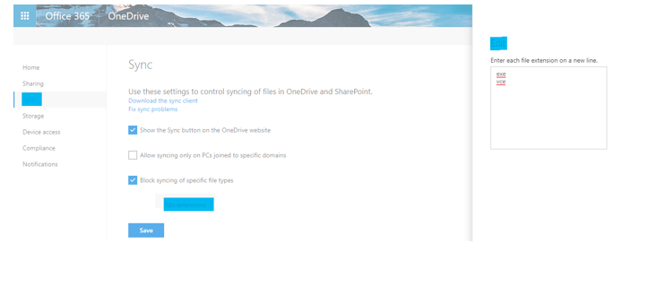 How to Block Sync of File Types in OneDrive for Business