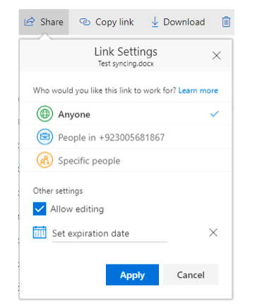 How to Share a File or Folder in OneDrive for Business