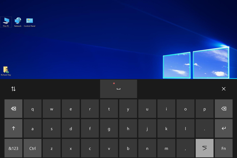 virtual keyboard windows 10 not working