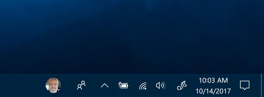 People on Taskbar - Contact