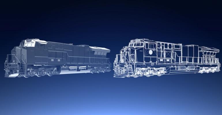 Illustration of GE Transportation digital twin