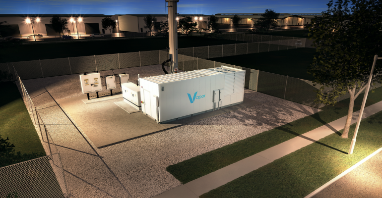 A Vapor Edge Module at a cell tower (a rendering)