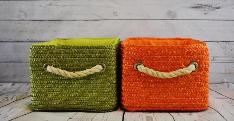 baskets green and orange