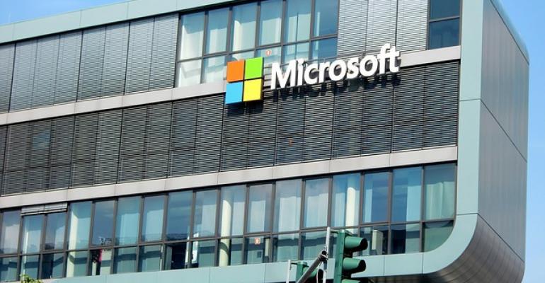 Microsoft Logo on a Building