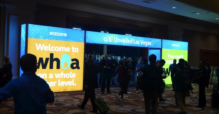 CES Unveiled 2018 Entrance
