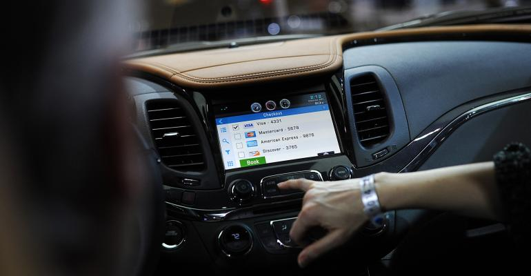 The OnStar 4G LTE dash system on a General Motors Chevrolet Impala during the 2014 North American International Auto Show. Jan. 13, 2014. Photographer: Daniel Acker/Bloomberg
