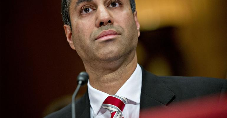 Ajit Pai, chairman of the Federal Communications Commission (FCC), listens during a Senate Appropriations Subcommittee hearing in Washington, D.C., U.S., on Tuesday, June 20, 2017. The hearing is entitled Review of the FY2018 Budget Request for the FCC. Photographer: Andrew Harrer/Bloomberg via Getty Images