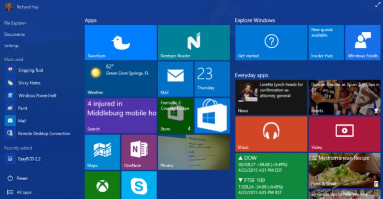 Gallery: Windows 10 build 10061