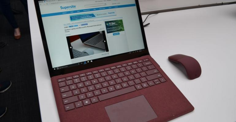 Hands On with Surface Laptop and new Surface Arc Mouse