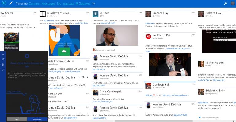 Gallery: New Cortana Setup in Windows 10 Build 10130