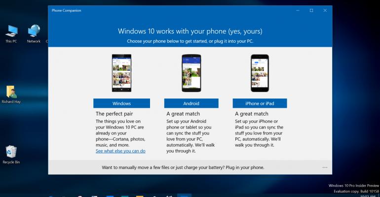 Gallery: Windows 10 Phone Companion App