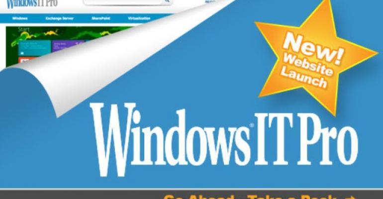 Windows IT Pro website launch