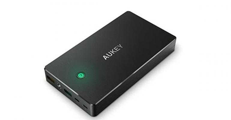 AUKEY 20000mAh 3.4A Dual USB Lightning and Micro AiPower Portable Charger