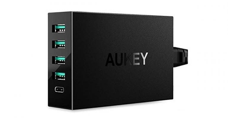 AUKEY Amp 4-port USB Charger with USB C Port