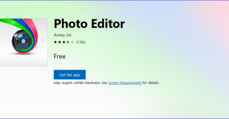App Tour: Picture Editor by Aviary