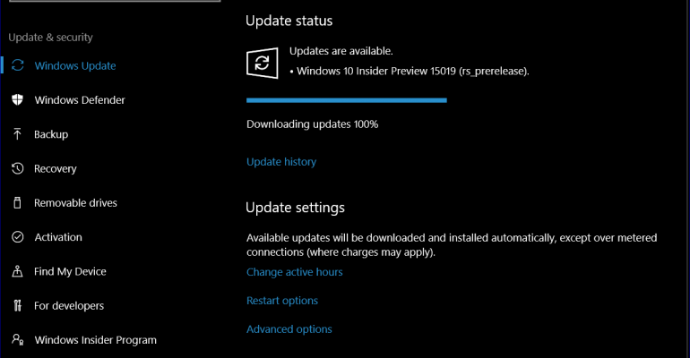 Creators Update: Hands on with Windows 10 Build 15019 for Redstone 2