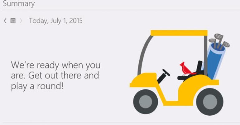 First Look: Microsoft Band Golf Integration