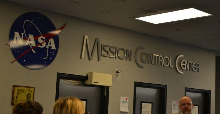ISS Mission Control and Historic Mission Control at Johnson Space Center
