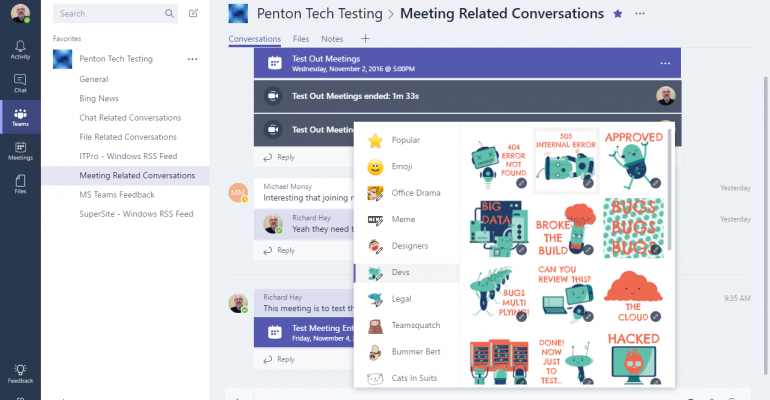 Checking out the Microsoft Teams Desktop Interface