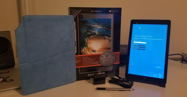 Hands On: Unboxing the NuVision Solo 10 Draw Windows 10 Tablet with Pen
