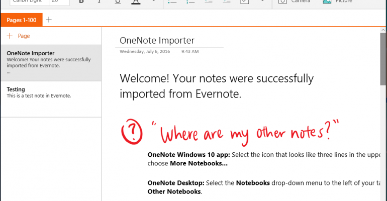 How To Import Evernote Content into OneNote