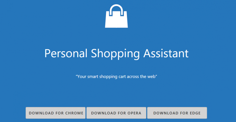 Microsoft Releases Personal Shopping Assistant Extension for Microsoft Edge