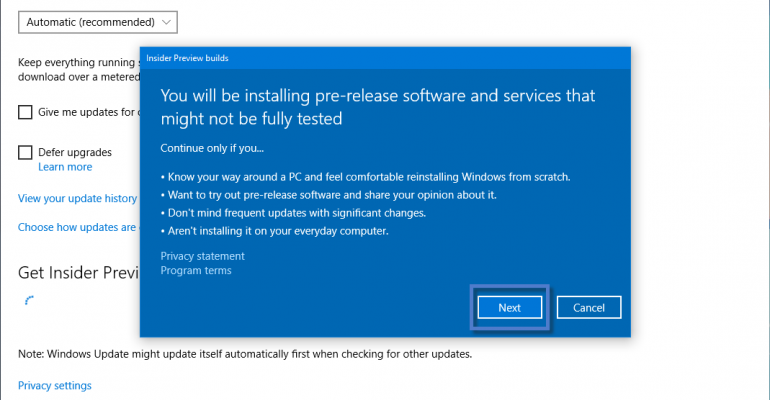 How To Enroll in the Windows 10 Preview Release Ring