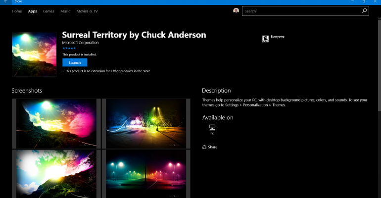 Gallery: Windows 10 Themes in the Windows Store