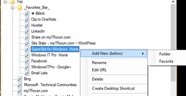 Take Back Control Over Microsoft Edge Favorites with EdgeManage