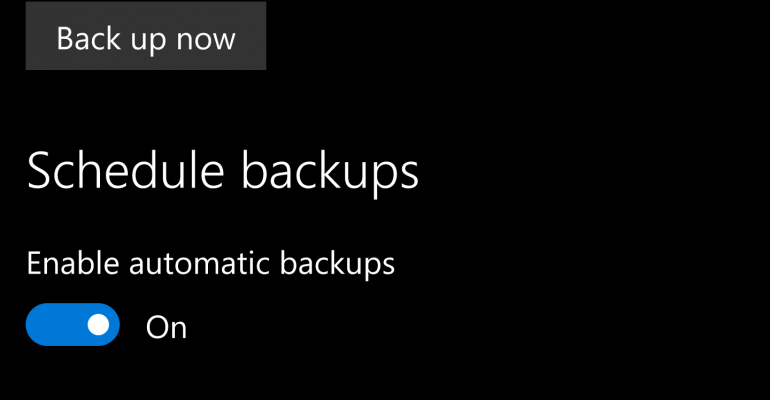 How To Manage Backups on Windows 10 Mobile