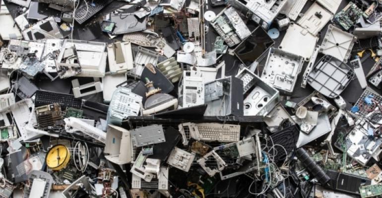 Electronics junk pile