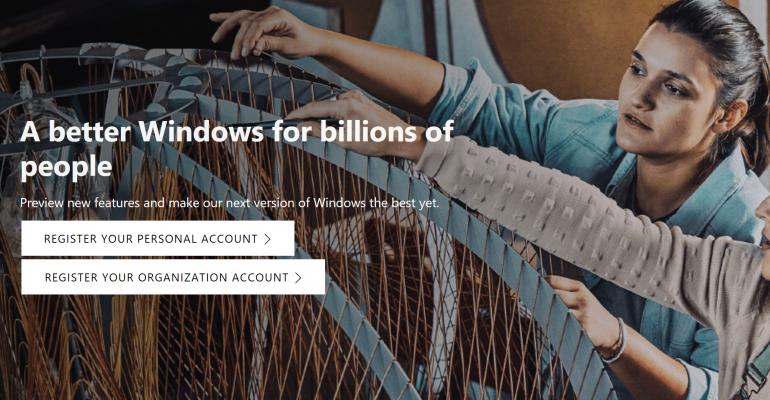Windows Insider Homepage Hero