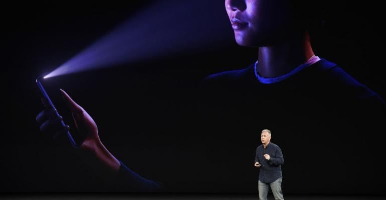 Phil Schiller, Apple's senior vice president of worldwide marketing, speaks about the iPhone X during an event in Cupertino, Calif. on Sept. 12, 2017. Photographer: David Paul Morris/Bloomberg
