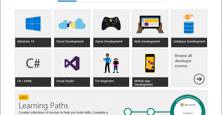 Microsoft Virtual Academy Learning Paths
